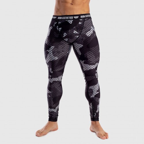 Férfi leggings Iron Aesthetics DOTS camo