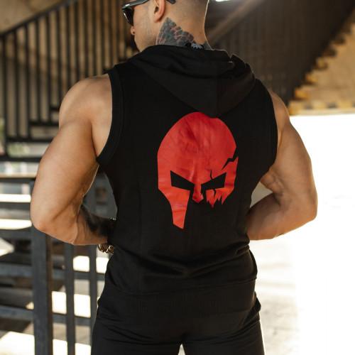 Ujjatlan kapucnis pulóver Iron Aesthetics Sleeveless Skull, B&R