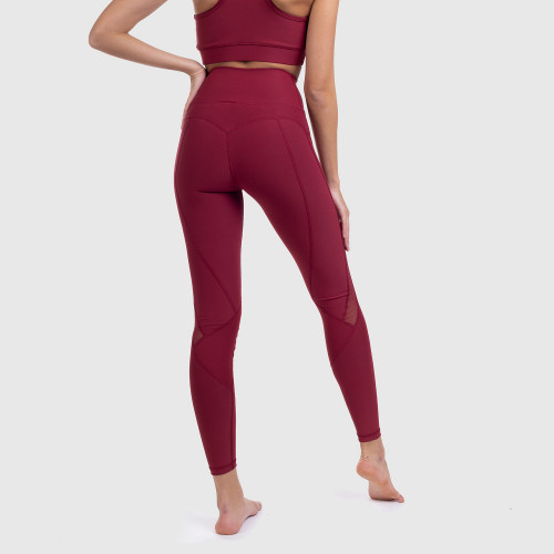 Női leggings NET - Iron Aesthetics, bordó