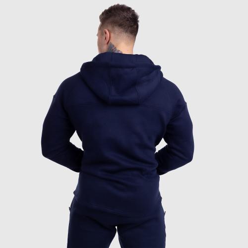 Cipzáros fitness pulóver Iron Aesthetics ROUND, NAVY