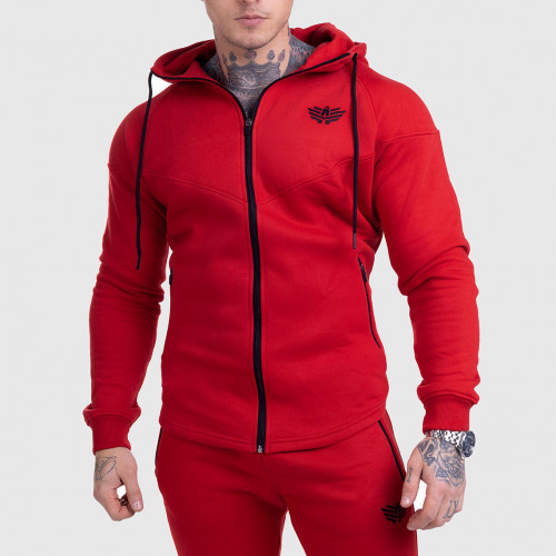 Cipzáros fitness pulóver Iron Aesthetics ROUND, piros