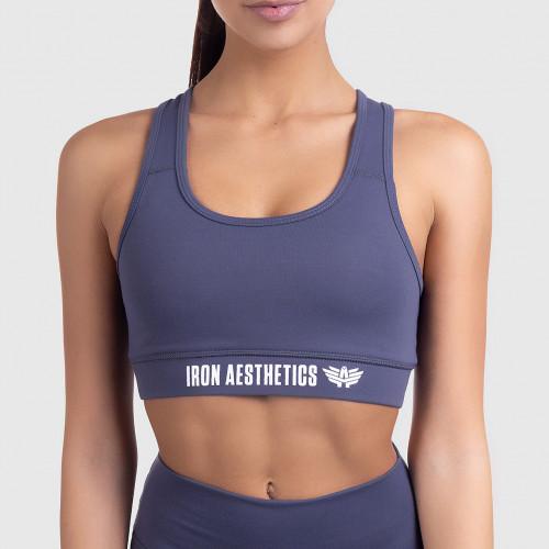 Női sportmelltartó STUFFED - Iron Aesthetics, szürke
