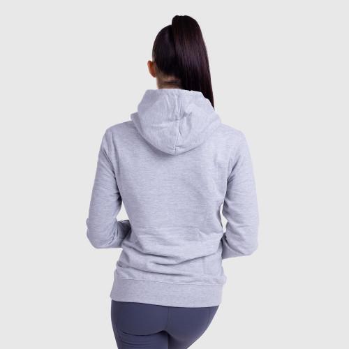 Női fitness pulcsi DONUTS, szürke