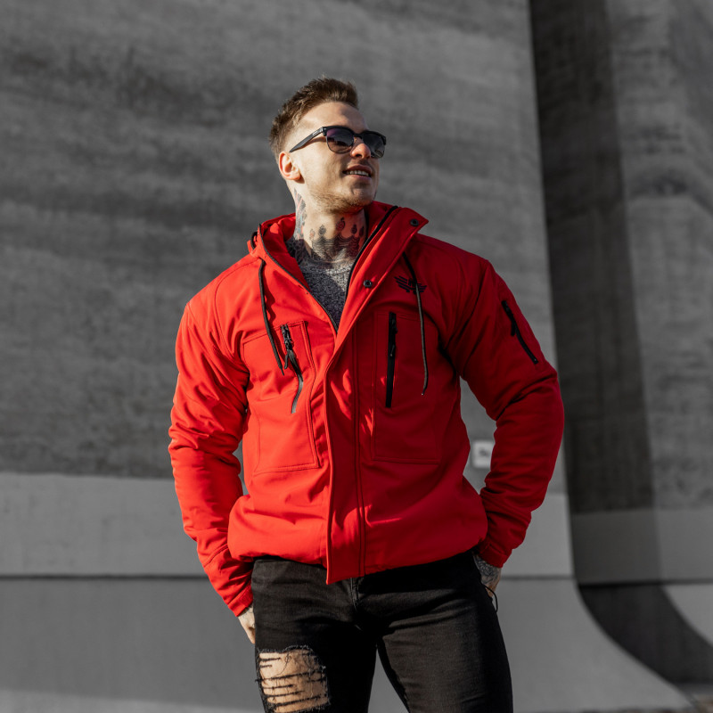 Férfi Softshell dzseki Iron Aesthetics, piros