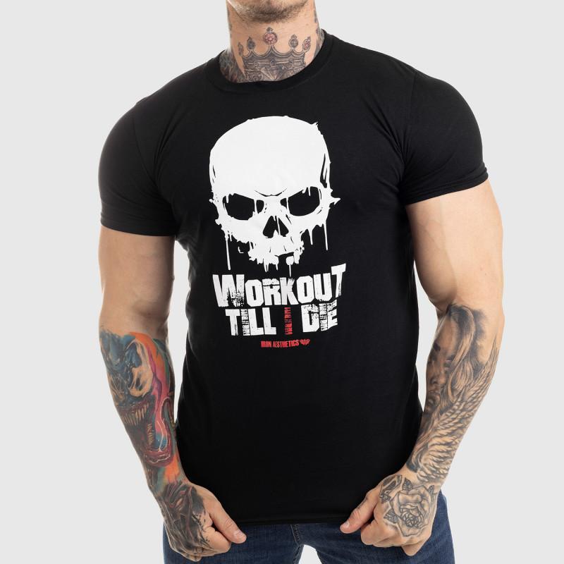 Ultrasoft póló Workout Till I Die, fekete-1