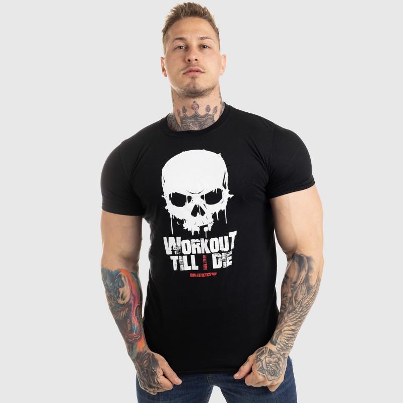 Ultrasoft póló Workout Till I Die, fekete-3