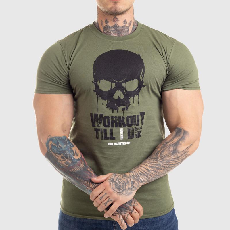 Ultrasoft póló Workout Till I Die, zöld-2