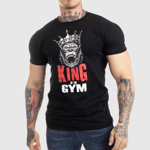 Ultrasoft póló Iron Aesthetics King of the Gym, fekete