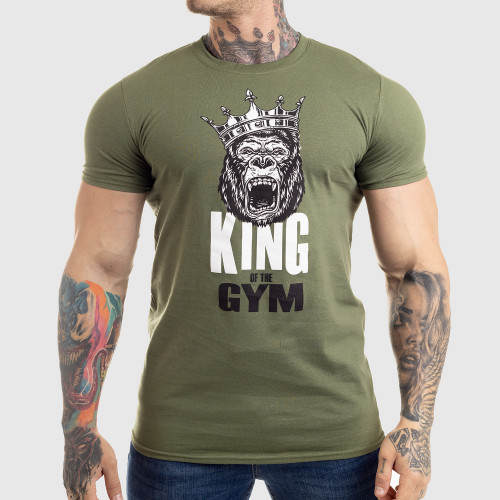 Ultrasoft póló Iron Aesthetics King of the Gym, zöld