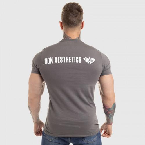Ultrasoft póló Iron Aesthetics King of the Gym, szürke