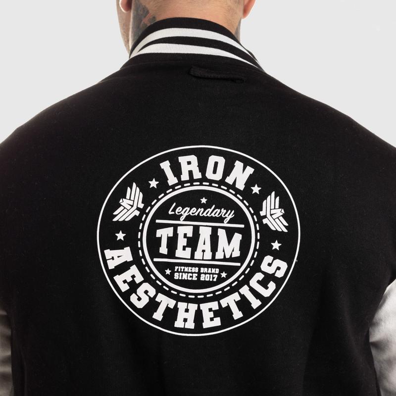 Férfi dzseki Iron Aesthetics Varsity Star, fekete-11