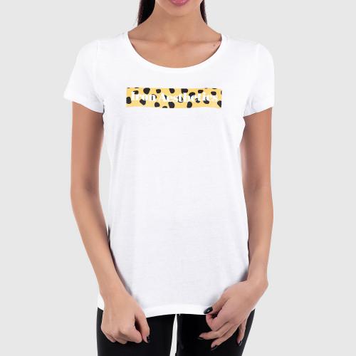 Női fitness póló Iron Aesthetics Light Gepard, fehér