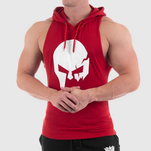 Férfi fitness KAPUCNIS ATLÉTA Iron Aesthetics Skull, piros