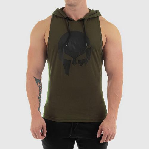 Férfi fitness KAPUCNIS ATLÉTA Iron Aesthetics Skull, zöld