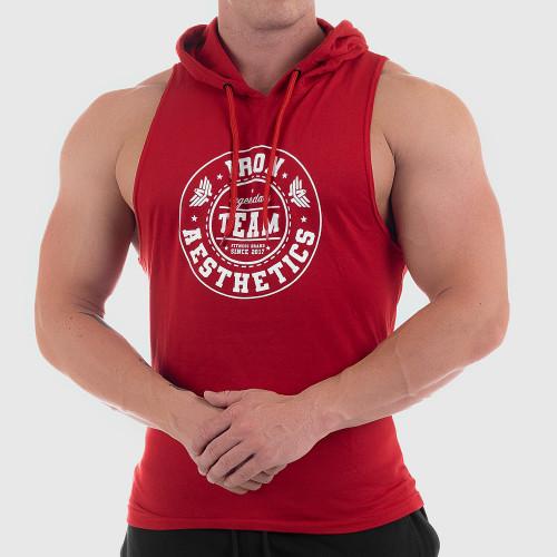 Férfi fitness KAPUCNIS ATLÉTA Iron Aesthetics Circle Star, piros