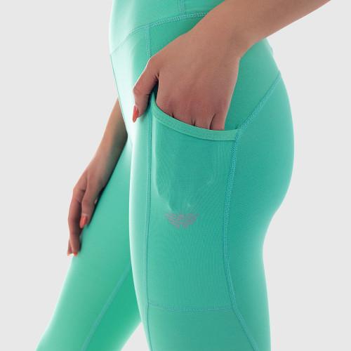 Női leggings POCKET MINT - Iron Aesthetics, zöld