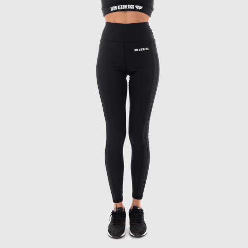 Női derék leggings Grid- Iron Aesthetics, fekete