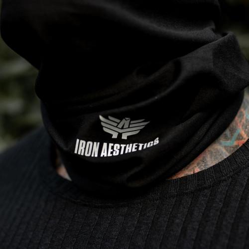 Többfunkiós csősál Iron Aesthetics Skull, black