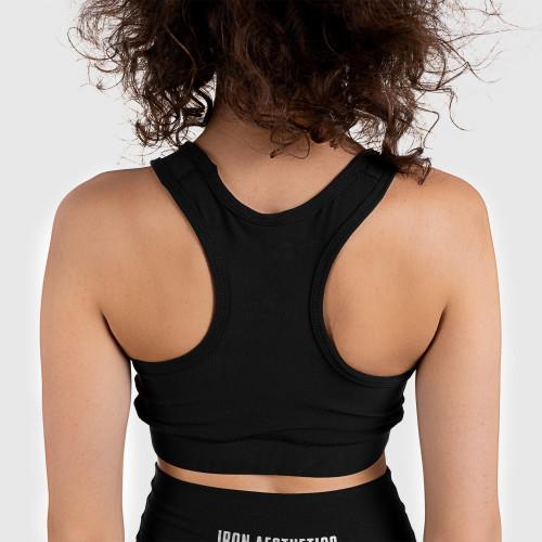 Női sportmelltartó STUFFED - Iron Aesthetics, SILVER fekete