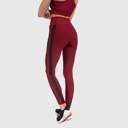 Női derék leggings Grid - Iron Aesthetics, bordó