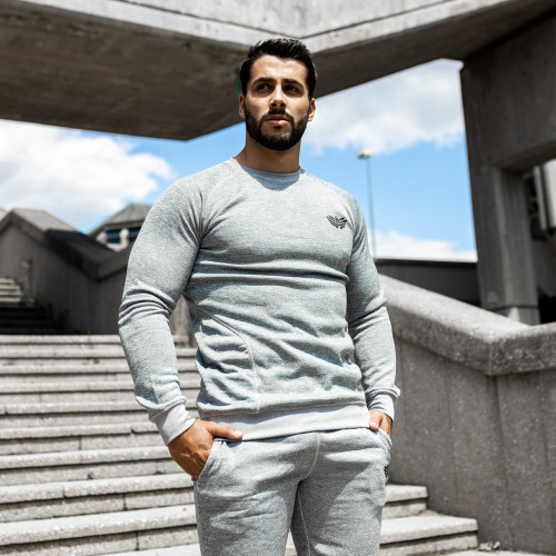 Fitness pulóver Iron Aesthetics Light Soft, szürke