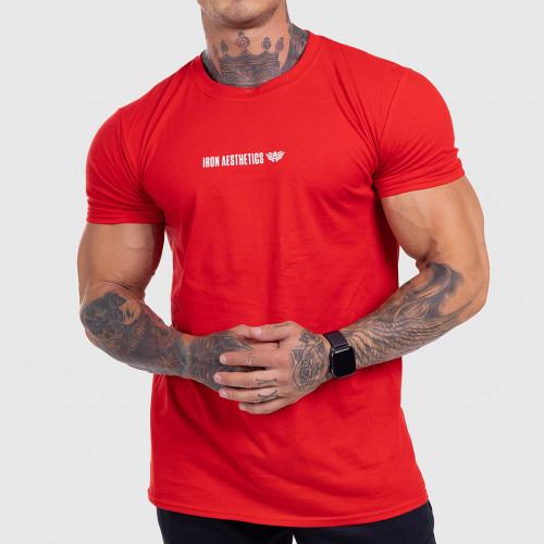 Ultrasoft póló Iron Aesthetics STRONGMAN, piros