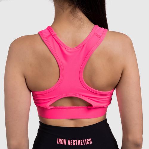 Női sportmelltartó - Iron Aesthetics, NEON PINK