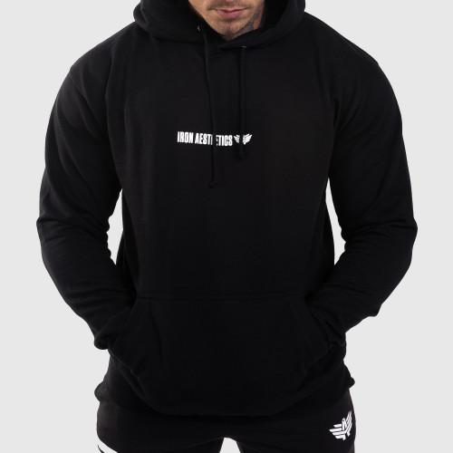 Fitness pulóver cipzár nélkül Iron Aesthetics Strongman, fekete