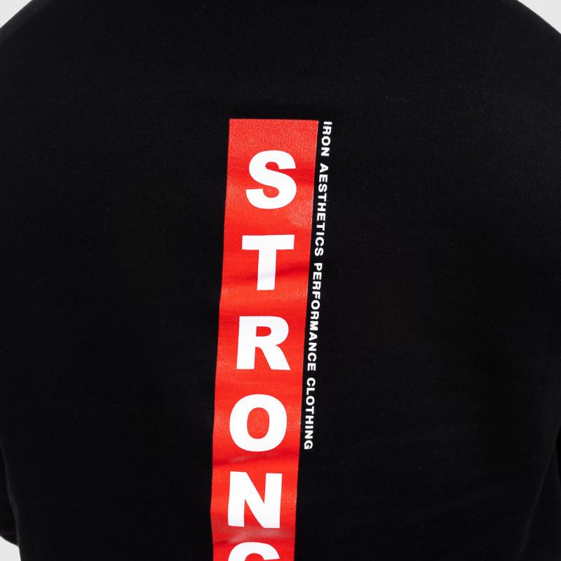 Fitness pulóver cipzár nélkül Iron Aesthetics Strongman, fekete-4