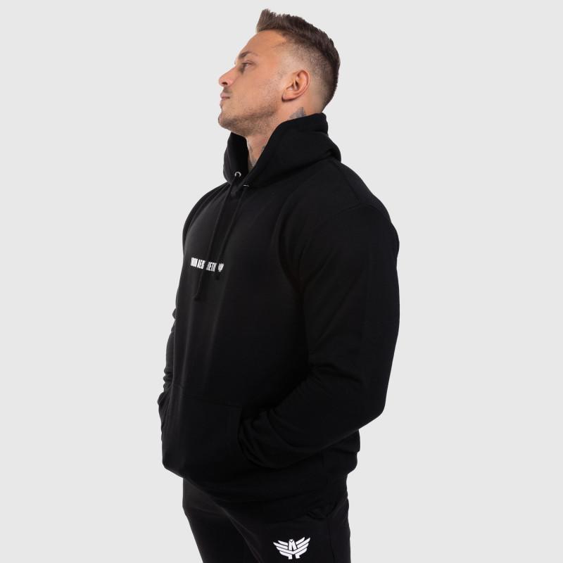 Fitness pulóver cipzár nélkül Iron Aesthetics Strongman, fekete-7