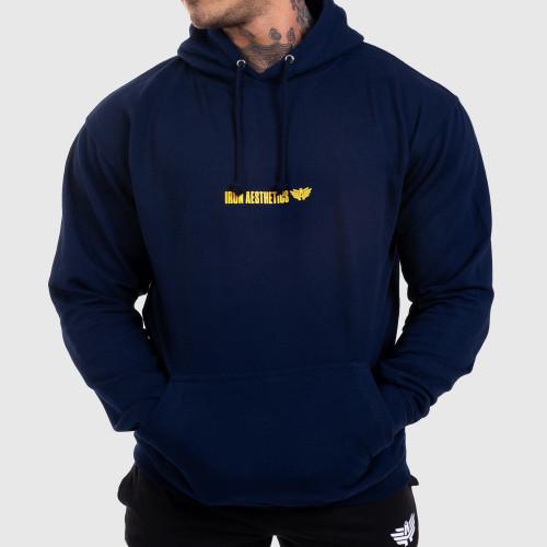 Fitness pulóver cipzár nélkül Iron Aesthetics Strongman, navy