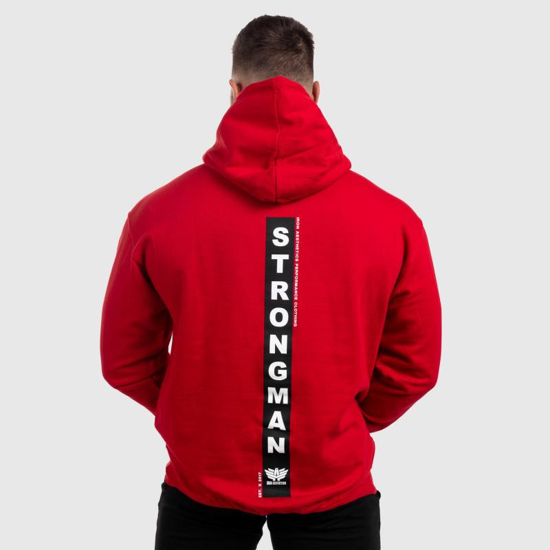 Fitness pulóver cipzár nélkül Iron Aesthetics Strongman, piros-3