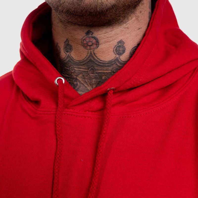 Fitness pulóver cipzár nélkül Iron Aesthetics Strongman, piros-6