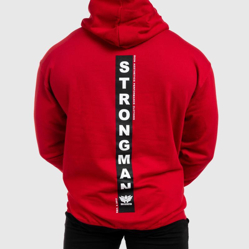 Fitness pulóver cipzár nélkül Iron Aesthetics Strongman, piros-7