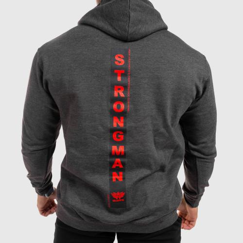 Fitness pulóver cipzár nélkül Iron Aesthetics Strongman, szürke