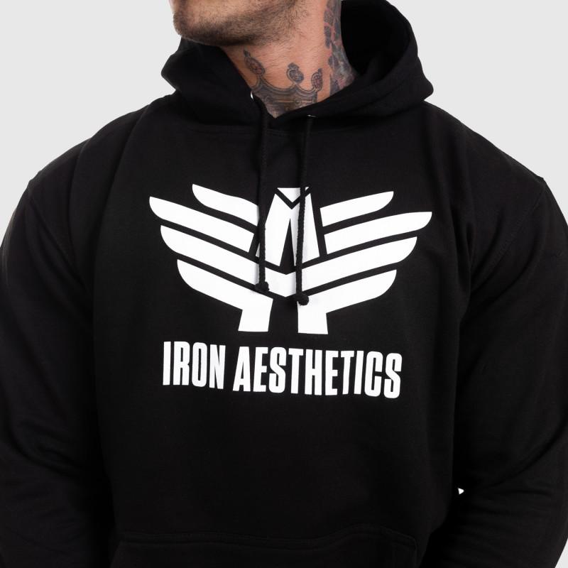 Sportos cipzár nélküli pulóver Iron Aesthetics, fekete-4