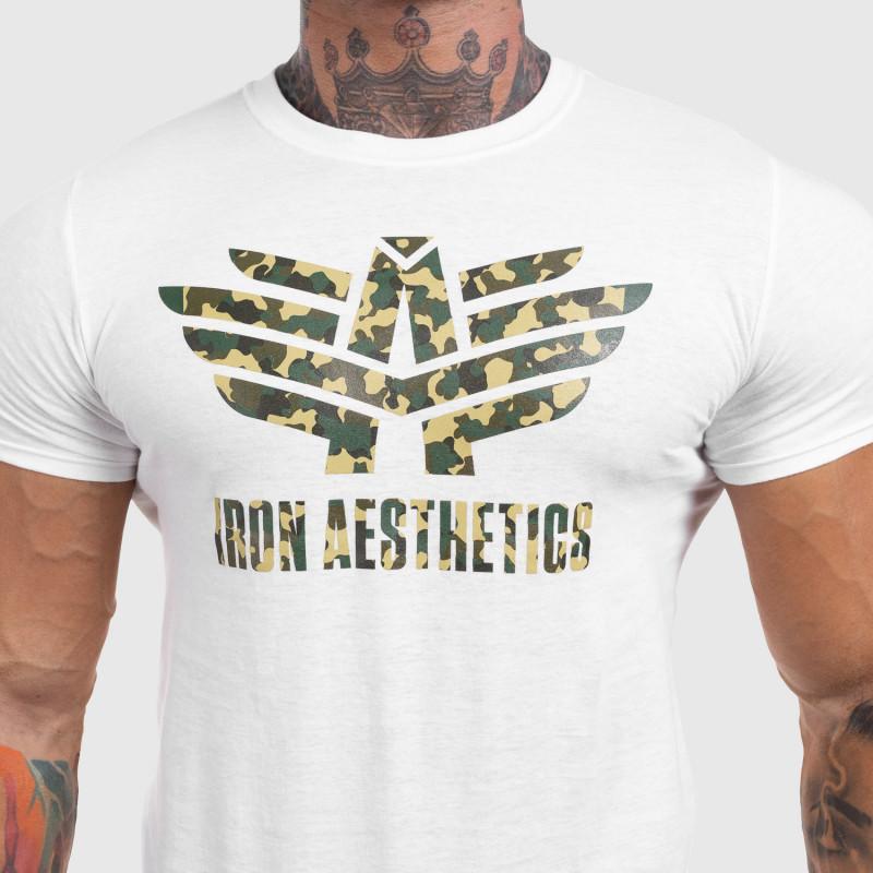 Ultrasoft póló Iron Aesthetics Green Camo, fehér-4