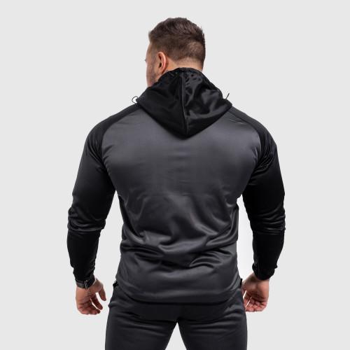Fitness cipzáros pulóver Iron Aesthetics SLEEVE, szürke