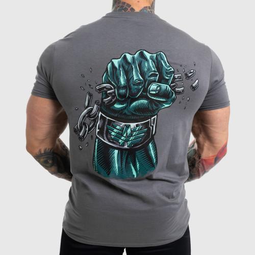 Ultrasoft póló Iron Aesthetics Fist, szürke