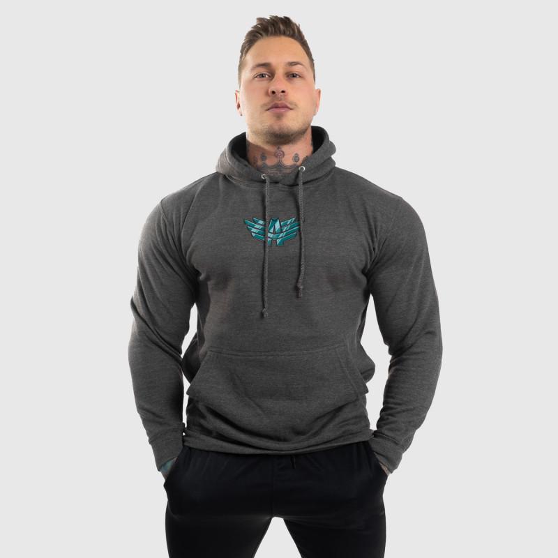 Fitness cipzár nélküli pulóver Iron Aesthetics Fist, szürke-6