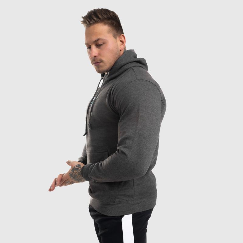 Fitness cipzár nélküli pulóver Iron Aesthetics Fist, szürke-8