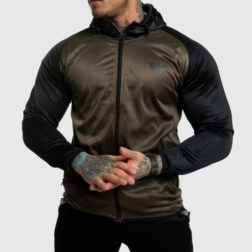 Fitness cipzáros pulóver Iron Aesthetics SLEEVE, zöld