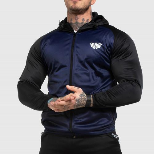 Fitness cipzáros pulóver Iron Aesthetics SLEEVE, kék