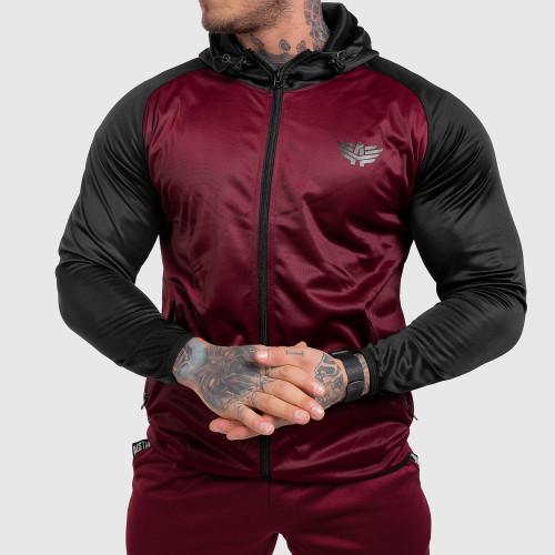 Fitness cipzáros pulóver Iron Aesthetics SLEEVE, bordó