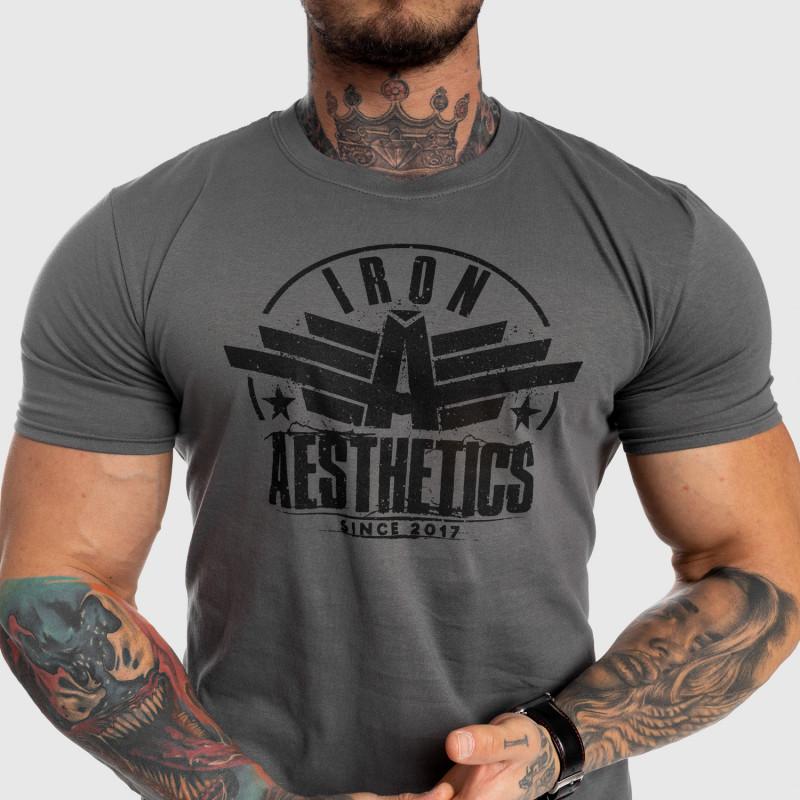 Férfi fitness póló Iron Aesthetics Force, szürke-4