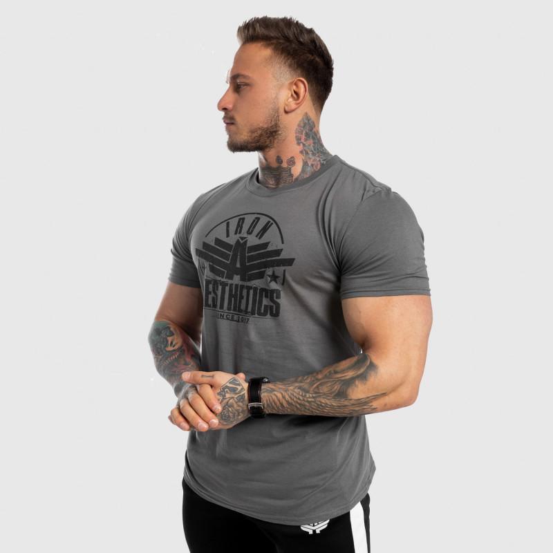 Férfi fitness póló Iron Aesthetics Force, szürke-5