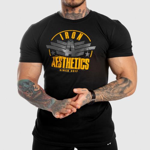 Férfi fitness póló Iron Aesthetics Force, fekete