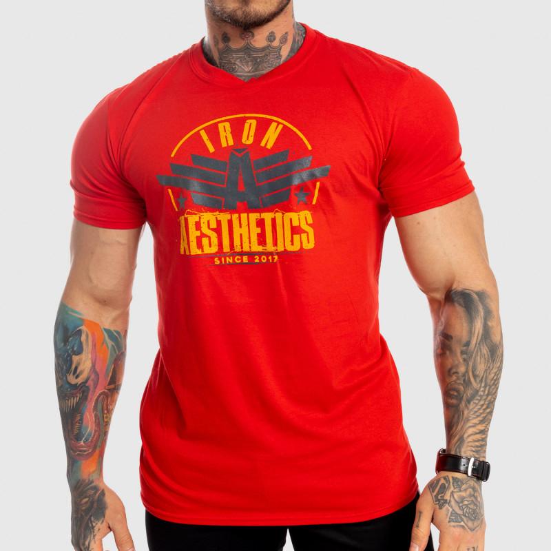 Férfi fitness póló Iron Aesthetics Force, piros-1