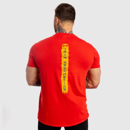 Férfi fitness póló Iron Aesthetics Force, piros
