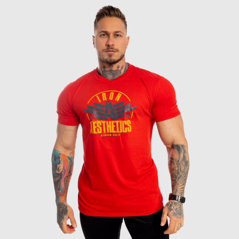 Férfi fitness póló Iron Aesthetics Force, piros-3